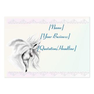 Cabeza de caballo blanco profilecard_chubby_horizo tarjetas de visita grandes