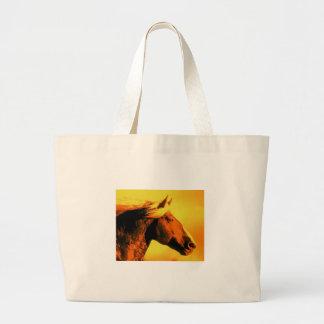 Cabeza de caballo bolsa tela grande