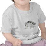Cabeza de caballo bosquejada camisetas