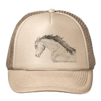 Cabeza de caballo bosquejada gorras