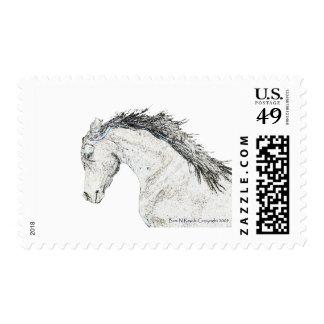 Cabeza de caballo bosquejada sellos