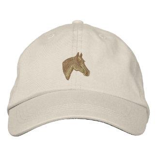 Cabeza de caballo cuarta gorra bordada