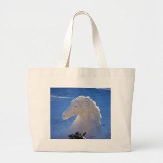 cabeza de caballo de la nieve bolsa