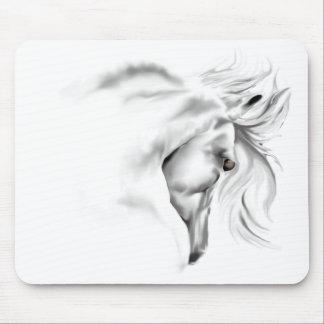 Cabeza de caballo de Whte Mousepad Tapete De Ratones