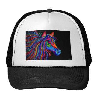 cabeza de caballo del arco iris gorra