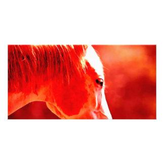 Cabeza de caballo del arte pop tarjetas fotograficas