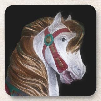 Cabeza de caballo del carrusel posavasos de bebidas