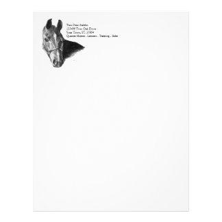 Cabeza de caballo del grafito membrete