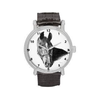 Cabeza de caballo del grafito relojes de mano