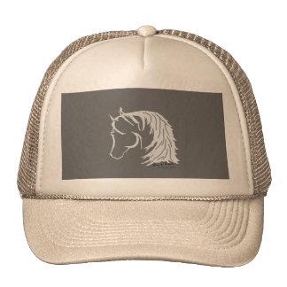 Cabeza de caballo en Siloutte gris Gorro