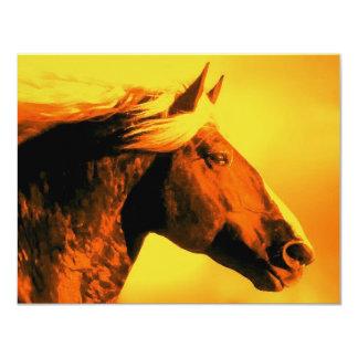 """Cabeza de caballo invitación 4.25"""" x 5.5"""""""