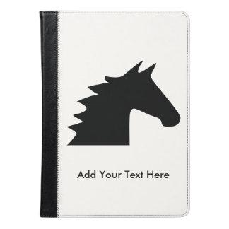 Cabeza de caballo negra