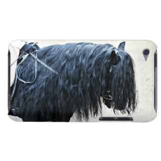 Cabeza de caballo negra iPod touch cobertura