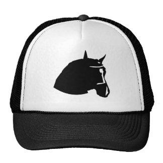 cabeza de caballo negra gorro