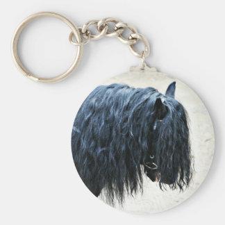 Cabeza de caballo negra llavero personalizado