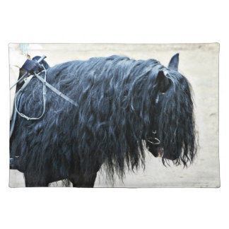 Cabeza de caballo negra manteles