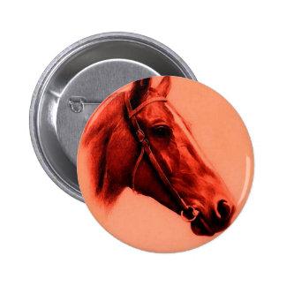 Cabeza de caballo pin redondo de 2 pulgadas