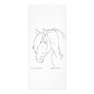 Cabeza de caballo plantilla de lona