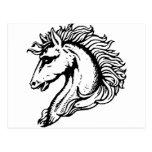 Cabeza de caballo postal