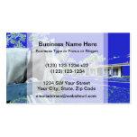 cabeza de caballo sobre el azul de la cerca colore tarjetas de visita