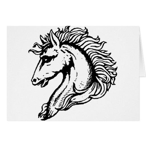 Cabeza de caballo tarjeta