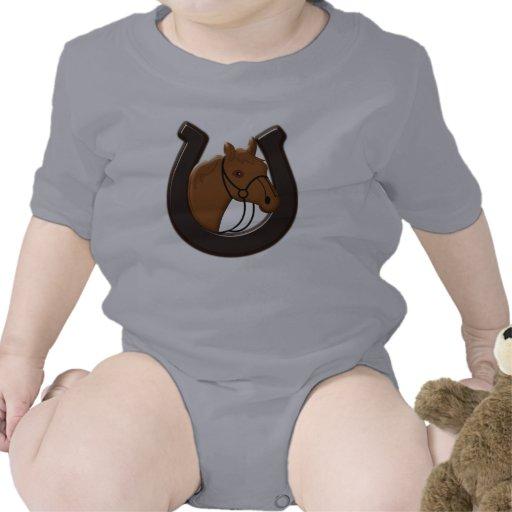 Cabeza de caballo y zapato del caballo trajes de bebé