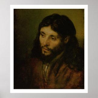 Cabeza de Cristo c 1648 aceite en lona Posters