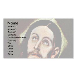 Cabeza de Cristo por el EL de Greco Plantillas De Tarjetas Personales