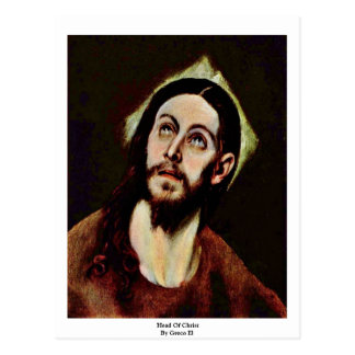 Cabeza de Cristo por el EL de Greco Tarjeta Postal