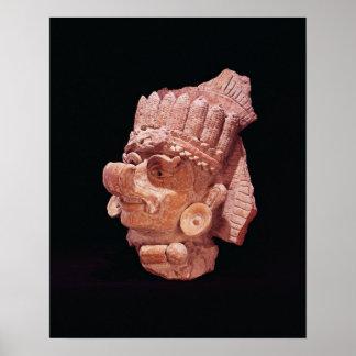 Cabeza de dios maya del maíz, Oaxaca, ANUNCIO c.50 Póster