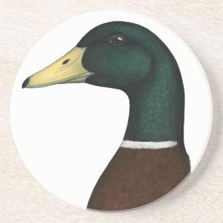 Cabeza de Drake del pato silvestre Posavasos Manualidades