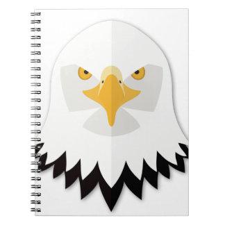 Cabeza de Eagle calvo del dibujo animado Cuaderno