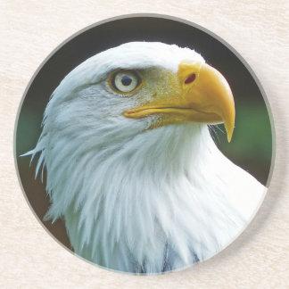 Cabeza de Eagle calvo Posavasos De Arenisca