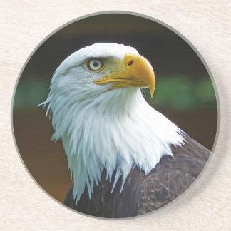 Cabeza de Eagle calvo Posavasos Personalizados