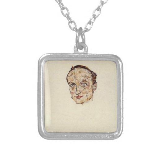 Cabeza de Egon Schiele- del Dr. Fritsch Colgante Cuadrado