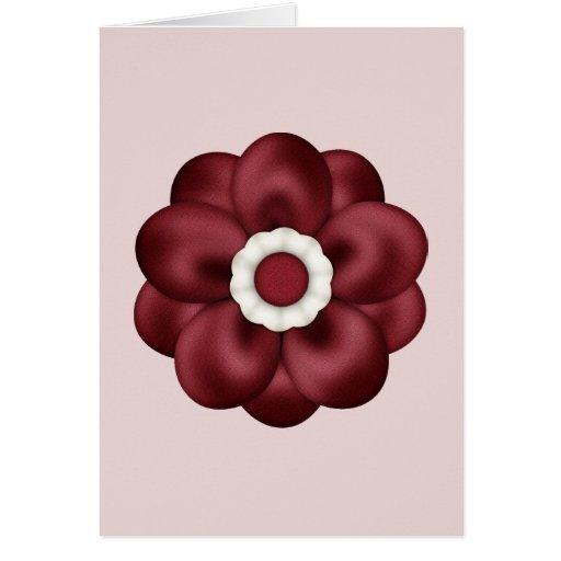 Cabeza de flor roja felicitación