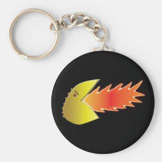 Cabeza de Fuego-Respiración Llavero Redondo Tipo Pin