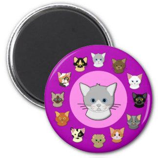 Cabeza de gato imán rosa