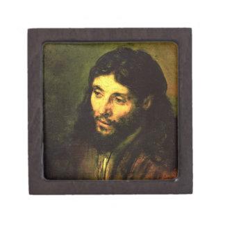 Cabeza de Jesús de Rembrandt Cajas De Recuerdo De Calidad