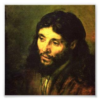Cabeza de Jesús de Rembrandt Fotografía