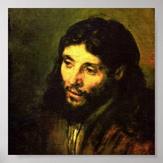 Cabeza de Jesús de Rembrandt Poster