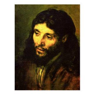 Cabeza de Jesús de Rembrandt Tarjeta Postal