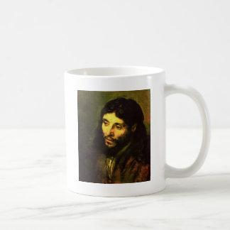 Cabeza de Jesús de Rembrandt Taza Básica Blanca