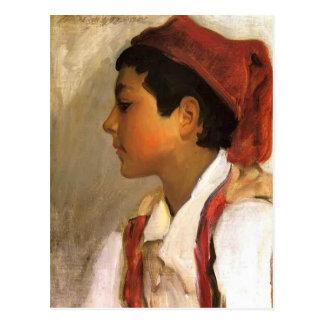 Cabeza de Juan Sargent- de un muchacho napolitano  Tarjetas Postales