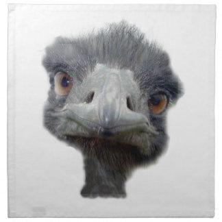 Cabeza de la avestruz servilleta de papel