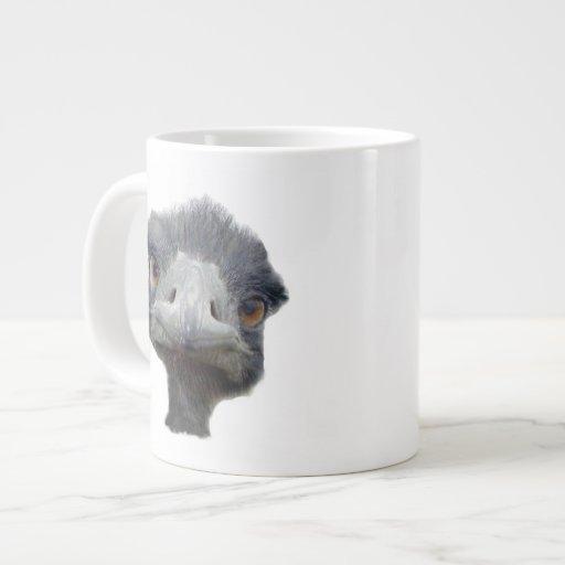 Cabeza de la avestruz taza jumbo