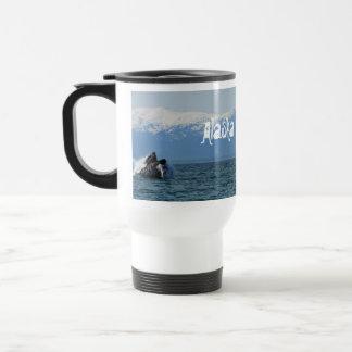 Cabeza de la ballena jorobada; Alaska Taza De Viaje De Acero Inoxidable