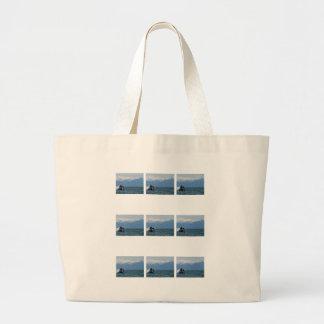 Cabeza de la ballena jorobada bolsa tela grande