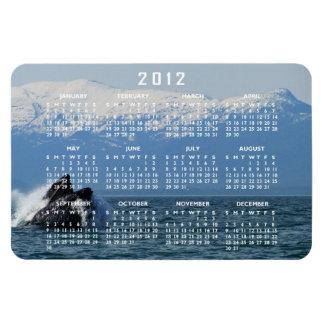Cabeza de la ballena jorobada; Calendario 2012 Iman Rectangular