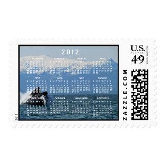Cabeza de la ballena jorobada; Calendario 2012 Franqueo